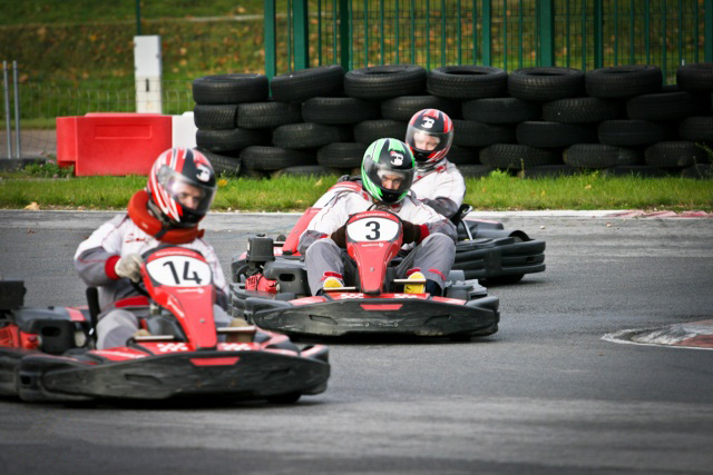 Outdoor karting circuit